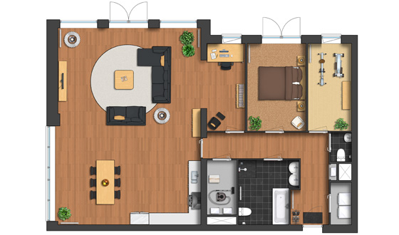 Plan symbols colorful top view images basic collection for Free floor plan website