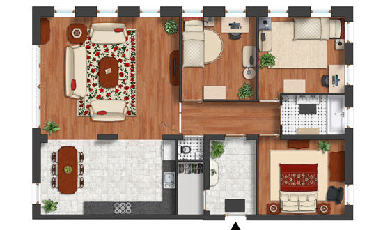 Modern Furniture together with Plan Symbols also Vikings Feb 17th further 2d Plan Symbols Basic Collection moreover Stock Illustration Trees And Bush Item Top. on photoshop rendered floor plan