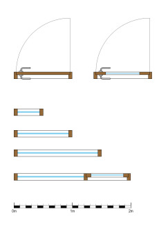 how to draw sliding windows in plan xo
