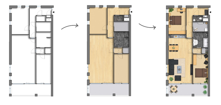 decorating floor plans