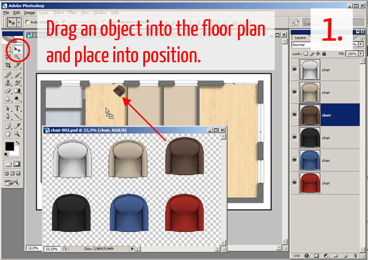 Tutorial Adding Textures Furniture And Shadows In Adobe