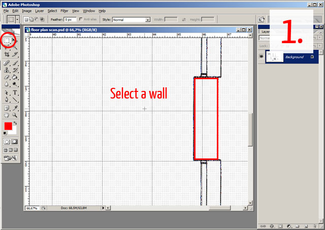 Floor Plan Walls Tutorial01