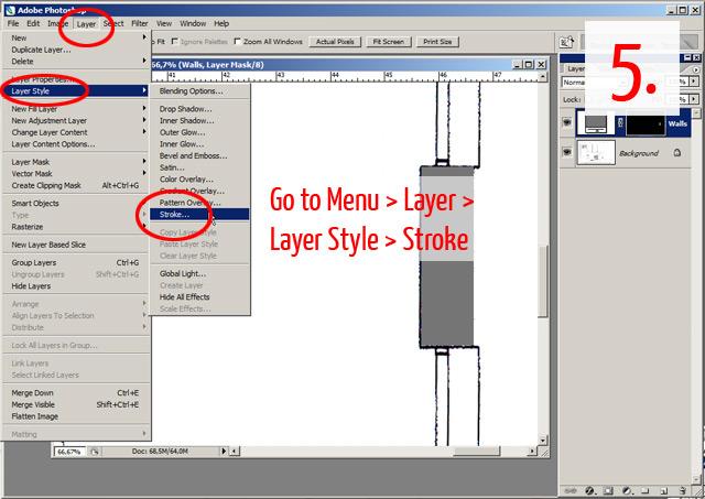 Tutorial | Tracing a floor plan in Adobe Photoshop | Plan Symbols