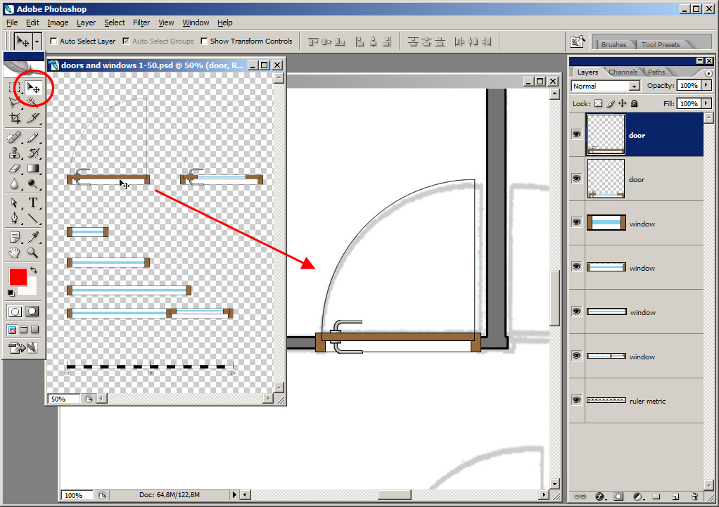 Tutorial tracing a floor plan in adobe photoshop plan for How to make a floor plan