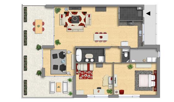 Modern Appartment Floor Plan